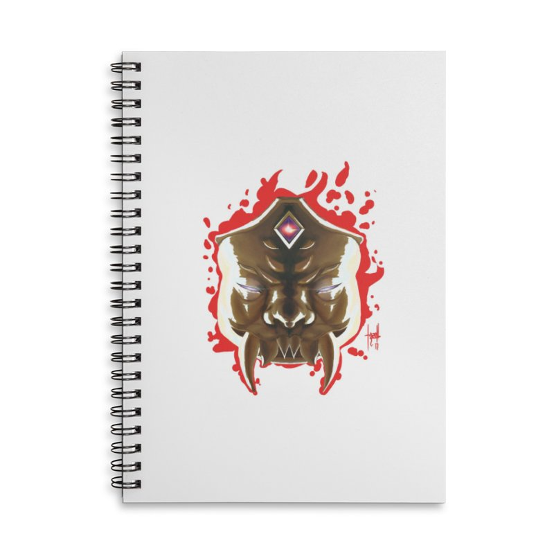 The Mas of the Third Eye Accessories Lined Spiral Notebook by Igzell's Artist Shop