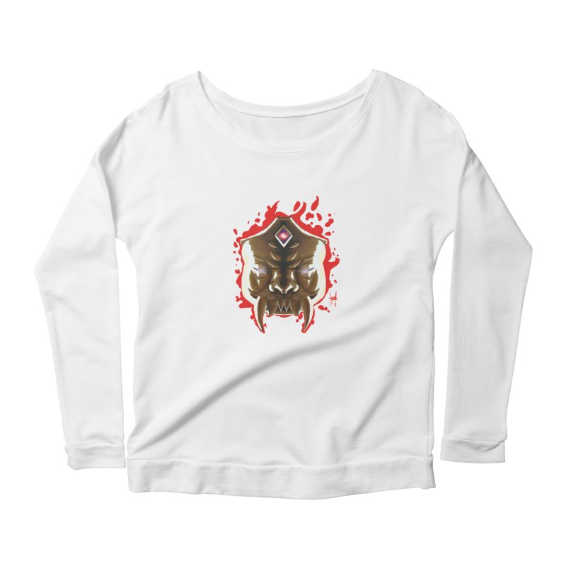 The Mas of the Third Eye Women's Scoop Neck Longsleeve T-Shirt by Igzell's Artist Shop