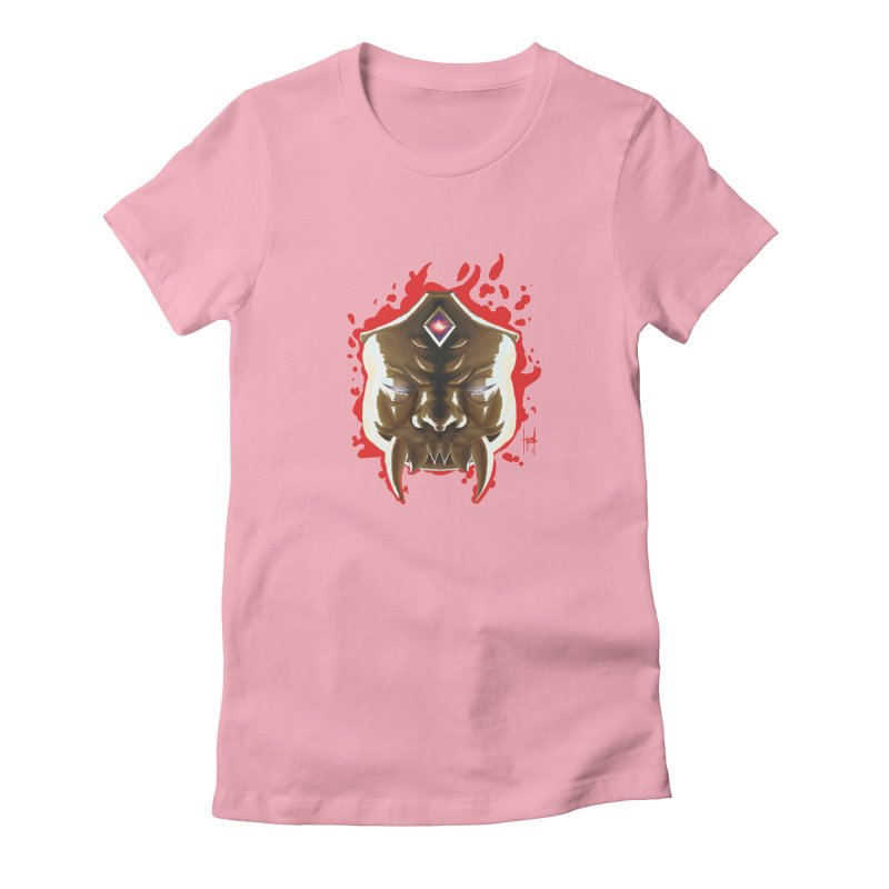 The Mas of the Third Eye Women's Fitted T-Shirt by Igzell's Artist Shop