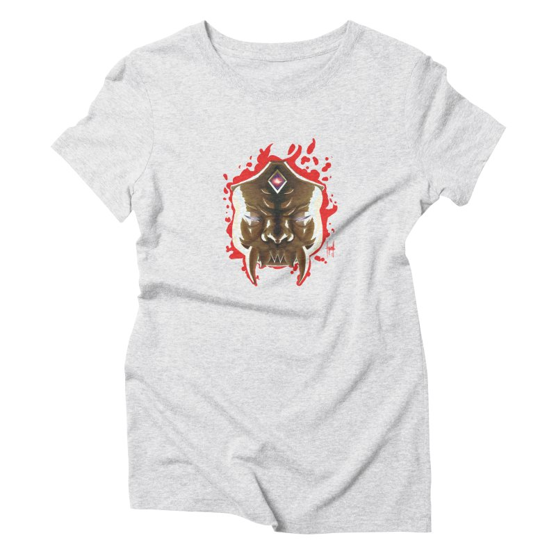 The Mas of the Third Eye Women's Triblend T-Shirt by Igzell's Artist Shop