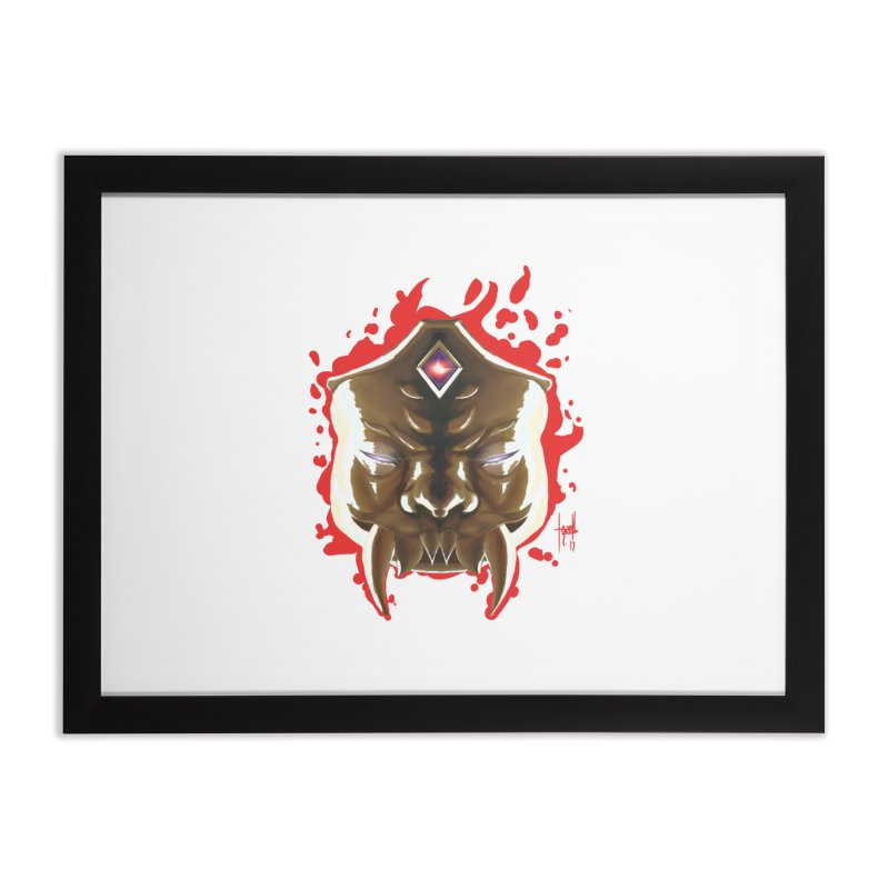 The Mas of the Third Eye Home Framed Fine Art Print by Igzell's Artist Shop