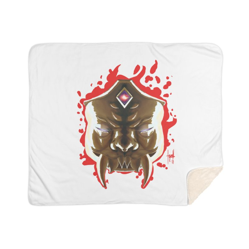 The Mas of the Third Eye Home Sherpa Blanket Blanket by Igzell's Artist Shop