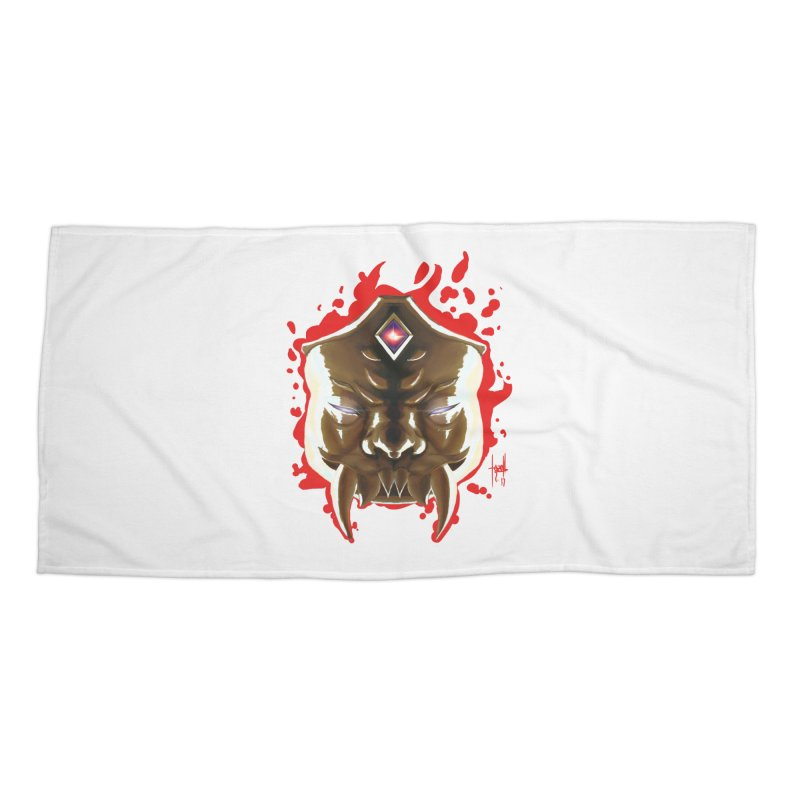 The Mas of the Third Eye Accessories Beach Towel by Igzell's Artist Shop