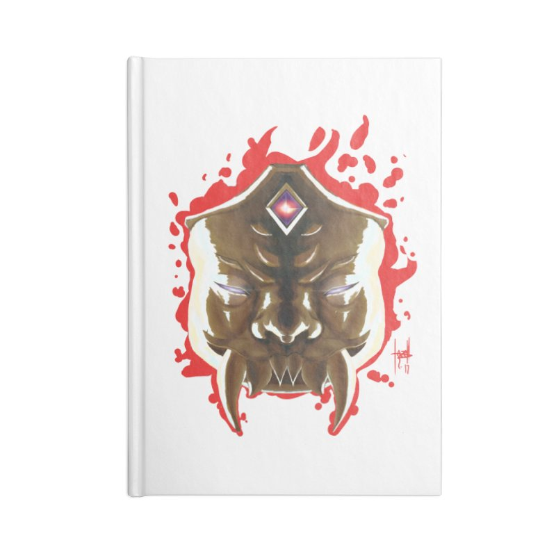The Mas of the Third Eye Accessories Blank Journal Notebook by Igzell's Artist Shop