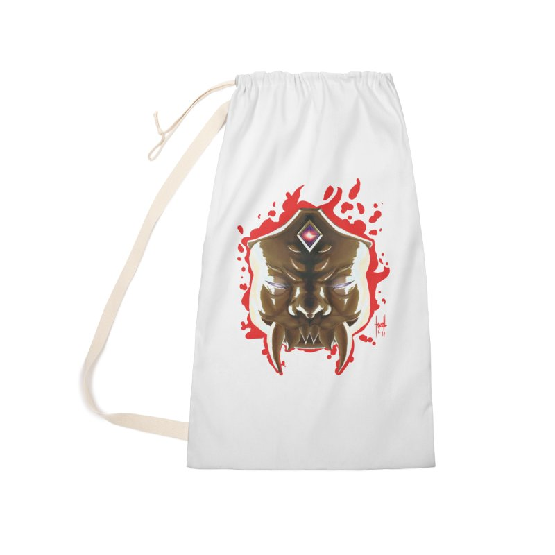 The Mas of the Third Eye Accessories Laundry Bag Bag by Igzell's Artist Shop