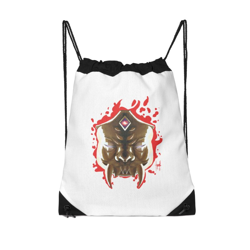 The Mas of the Third Eye Accessories Drawstring Bag Bag by Igzell's Artist Shop