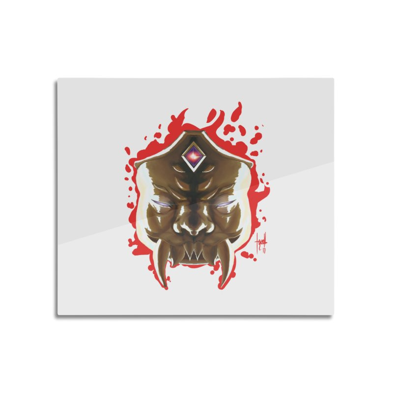 The Mas of the Third Eye Home Mounted Aluminum Print by Igzell's Artist Shop