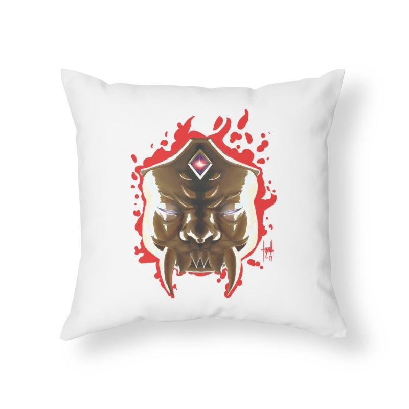The Mas of the Third Eye Home Throw Pillow by Igzell's Artist Shop