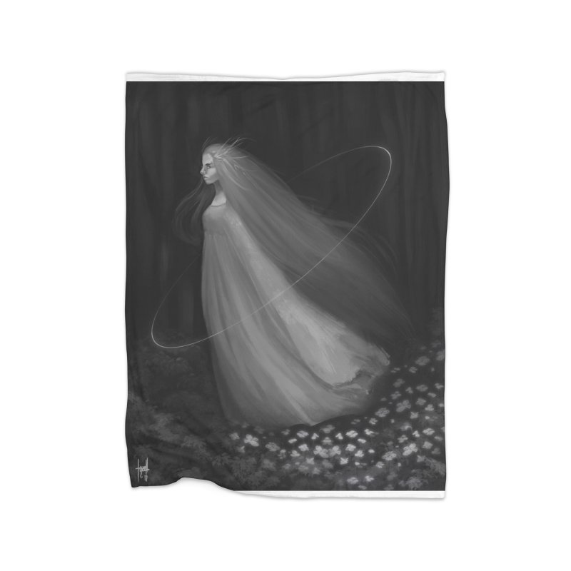 Spirit of the Forest Home Fleece Blanket Blanket by Igzell's Artist Shop
