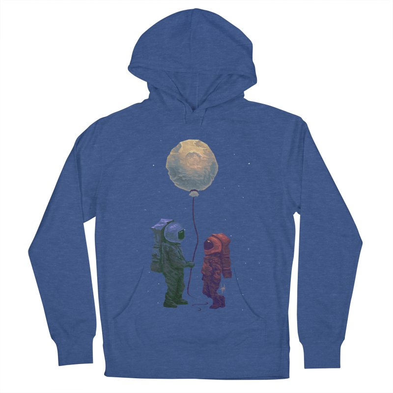 I'd give you the moon... Men's French Terry Pullover Hoody by Igzell's Artist Shop
