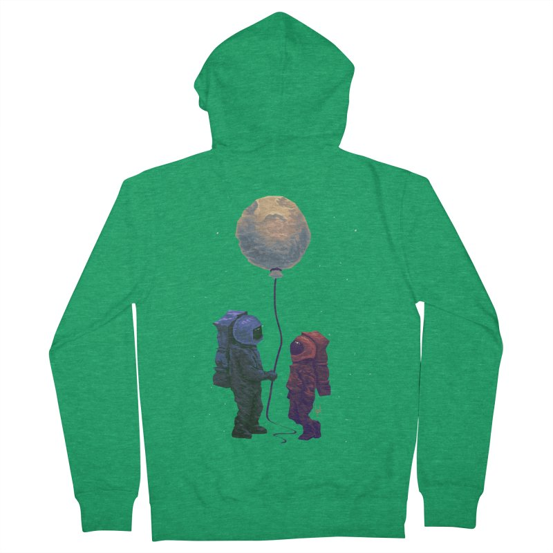 I'd give you the moon... Women's French Terry Zip-Up Hoody by Igzell's Artist Shop