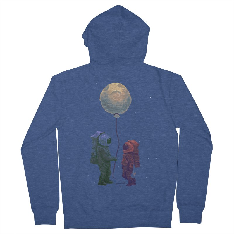 I'd give you the moon... Men's French Terry Zip-Up Hoody by Igzell's Artist Shop
