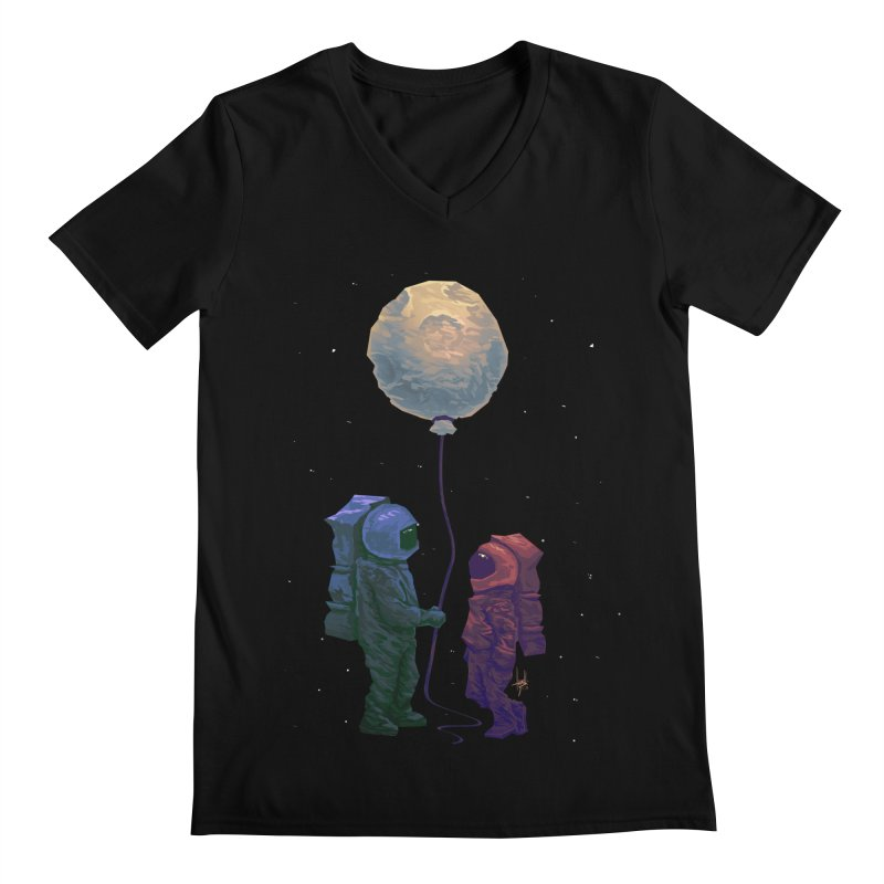 I'd give you the moon... Men's Regular V-Neck by Igzell's Artist Shop