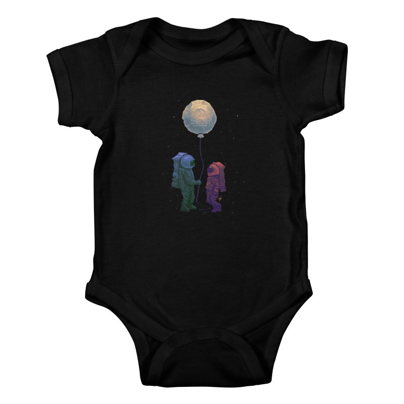 I'd give you the moon... Kids Baby Bodysuit by Igzell's Artist Shop
