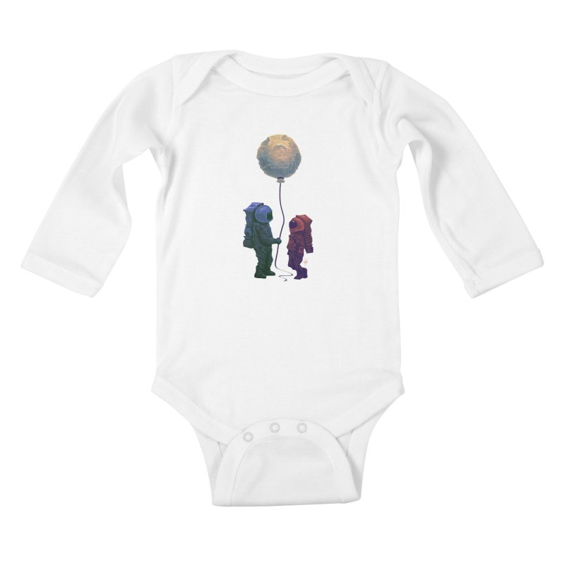 I'd give you the moon... Kids Baby Longsleeve Bodysuit by Igzell's Artist Shop