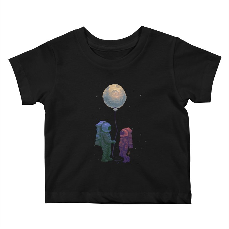 I'd give you the moon... Kids Baby T-Shirt by Igzell's Artist Shop