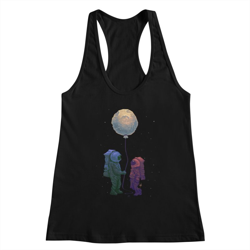 I'd give you the moon... Women's Racerback Tank by Igzell's Artist Shop