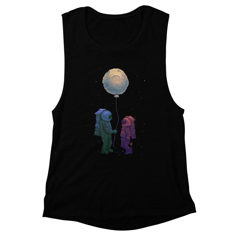 I'd give you the moon... Women's Muscle Tank by Igzell's Artist Shop
