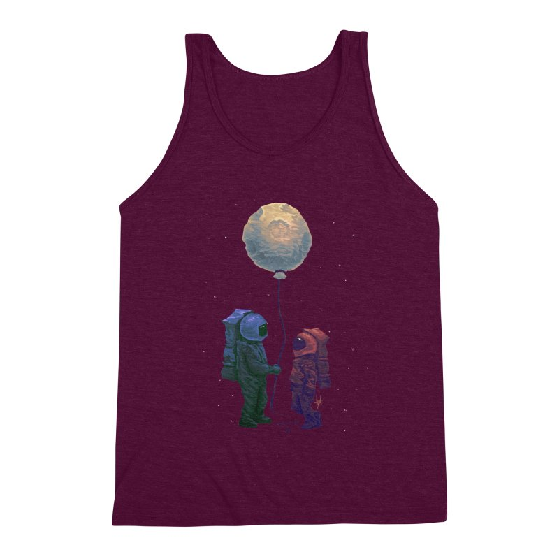 I'd give you the moon... Men's Triblend Tank by Igzell's Artist Shop