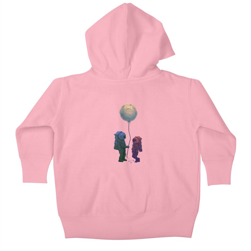 I'd give you the moon... Kids Baby Zip-Up Hoody by Igzell's Artist Shop