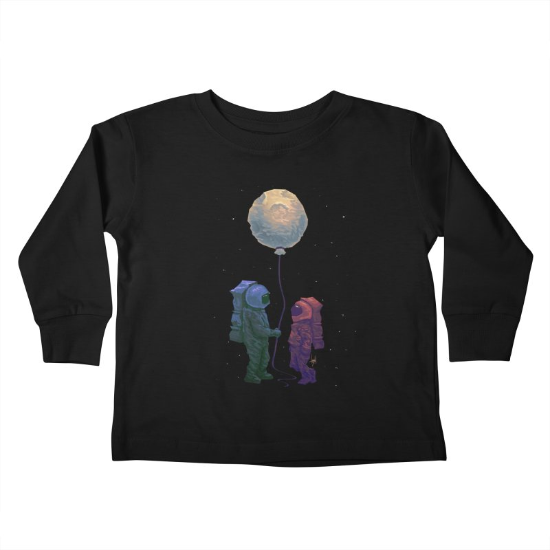 I'd give you the moon... Kids Toddler Longsleeve T-Shirt by Igzell's Artist Shop