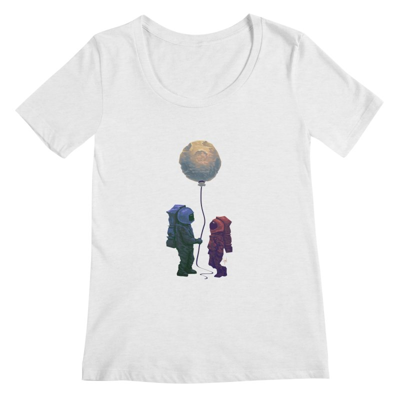 I'd give you the moon... Women's Regular Scoop Neck by Igzell's Artist Shop