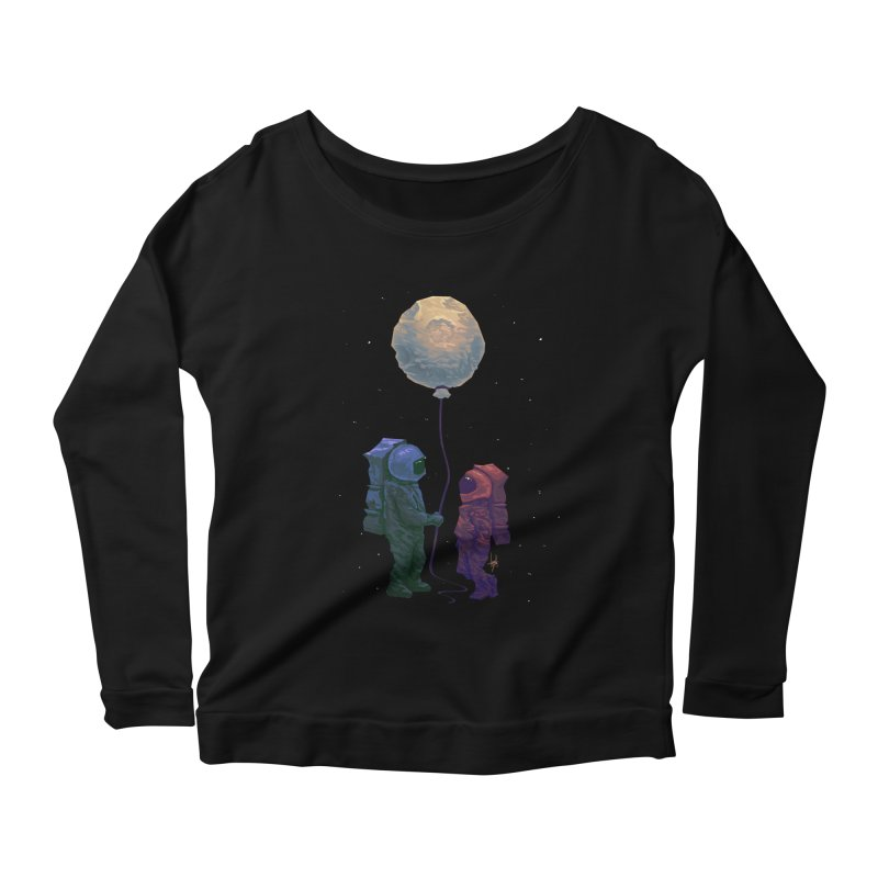 I'd give you the moon... Women's Scoop Neck Longsleeve T-Shirt by Igzell's Artist Shop