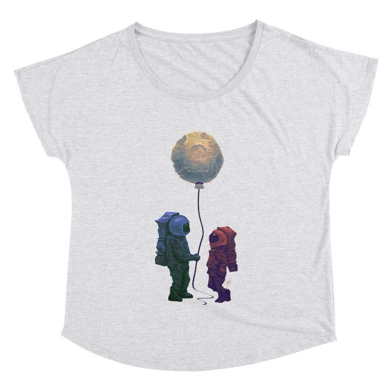 I'd give you the moon... Women's Dolman Scoop Neck by Igzell's Artist Shop