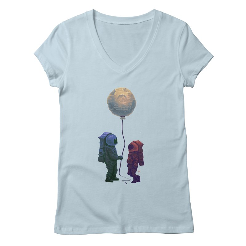I'd give you the moon... Women's Regular V-Neck by Igzell's Artist Shop