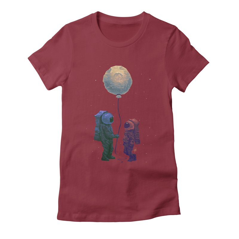 I'd give you the moon... Women's Fitted T-Shirt by Igzell's Artist Shop
