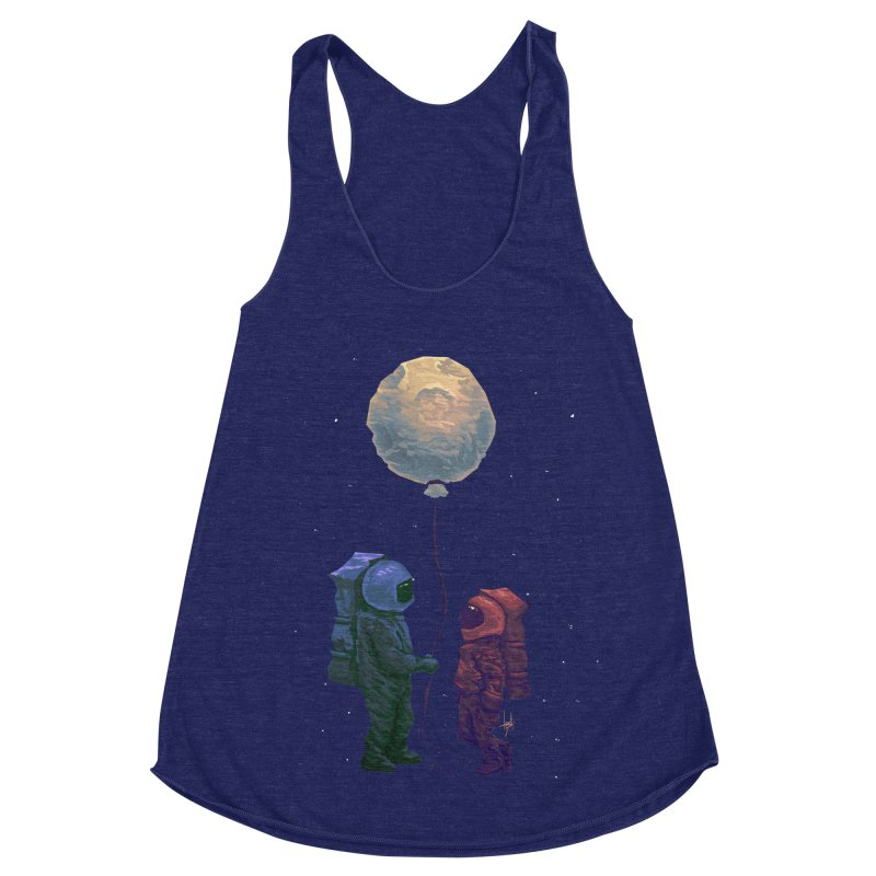 I'd give you the moon... Women's Racerback Triblend Tank by Igzell's Artist Shop