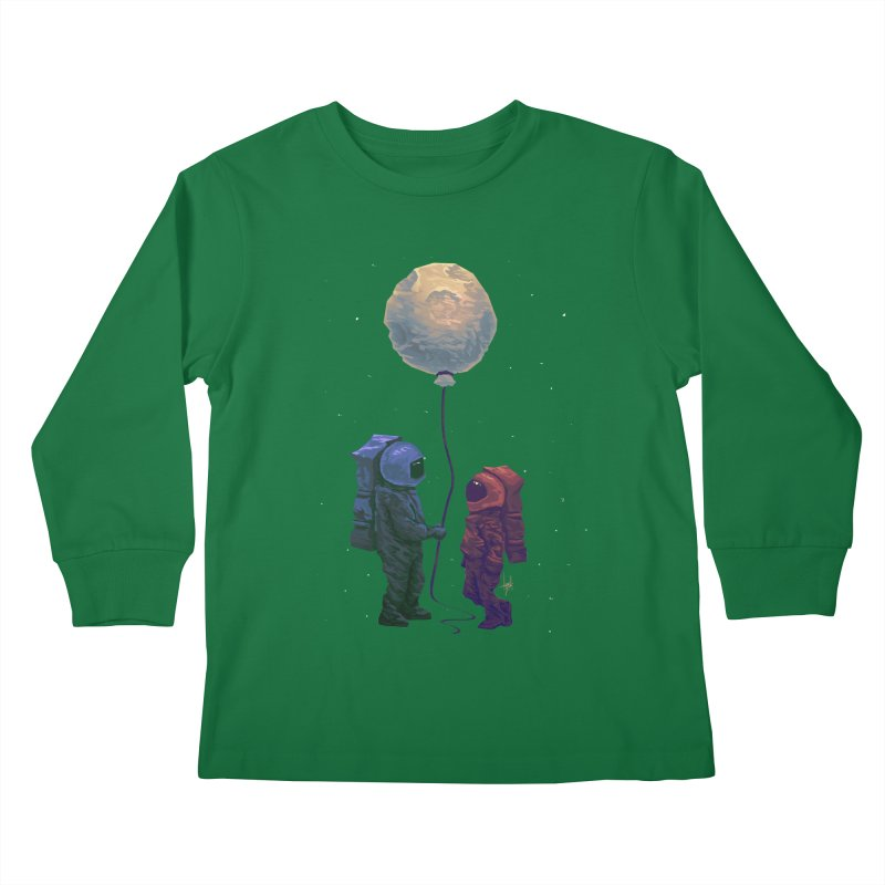 I'd give you the moon... Kids Longsleeve T-Shirt by Igzell's Artist Shop