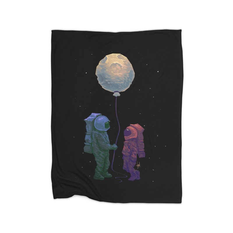 I'd give you the moon... Home Fleece Blanket Blanket by Igzell's Artist Shop