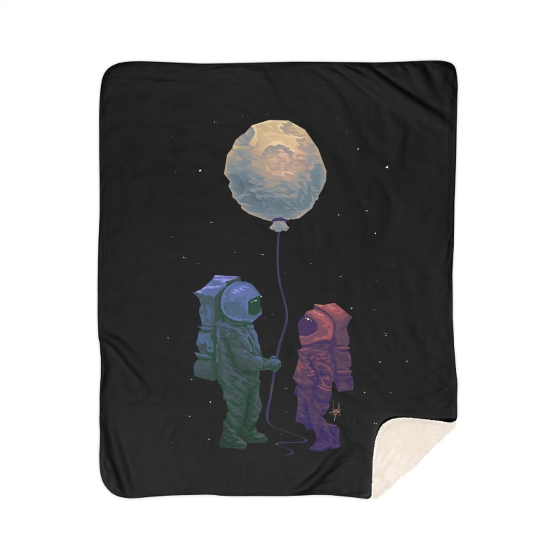 I'd give you the moon... Home Sherpa Blanket Blanket by Igzell's Artist Shop