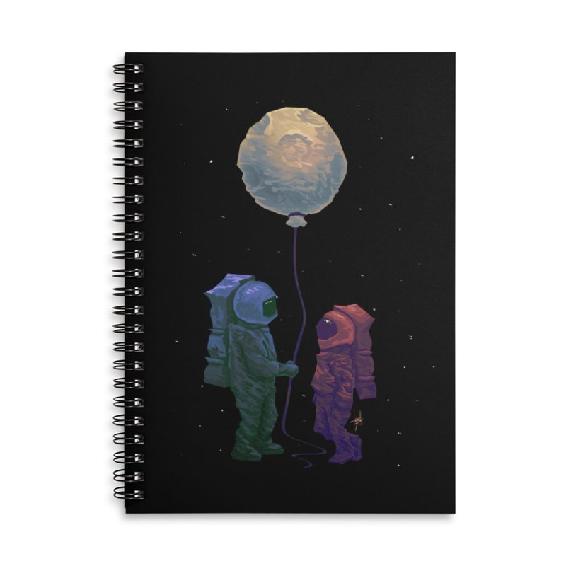 I'd give you the moon... Accessories Lined Spiral Notebook by Igzell's Artist Shop