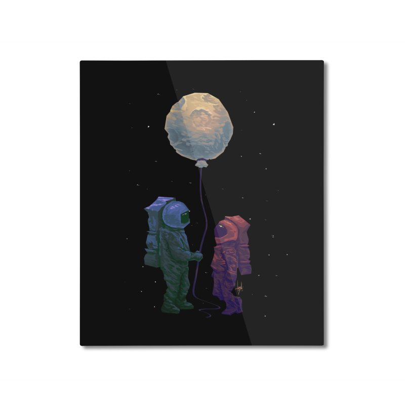I'd give you the moon... Home Mounted Aluminum Print by Igzell's Artist Shop
