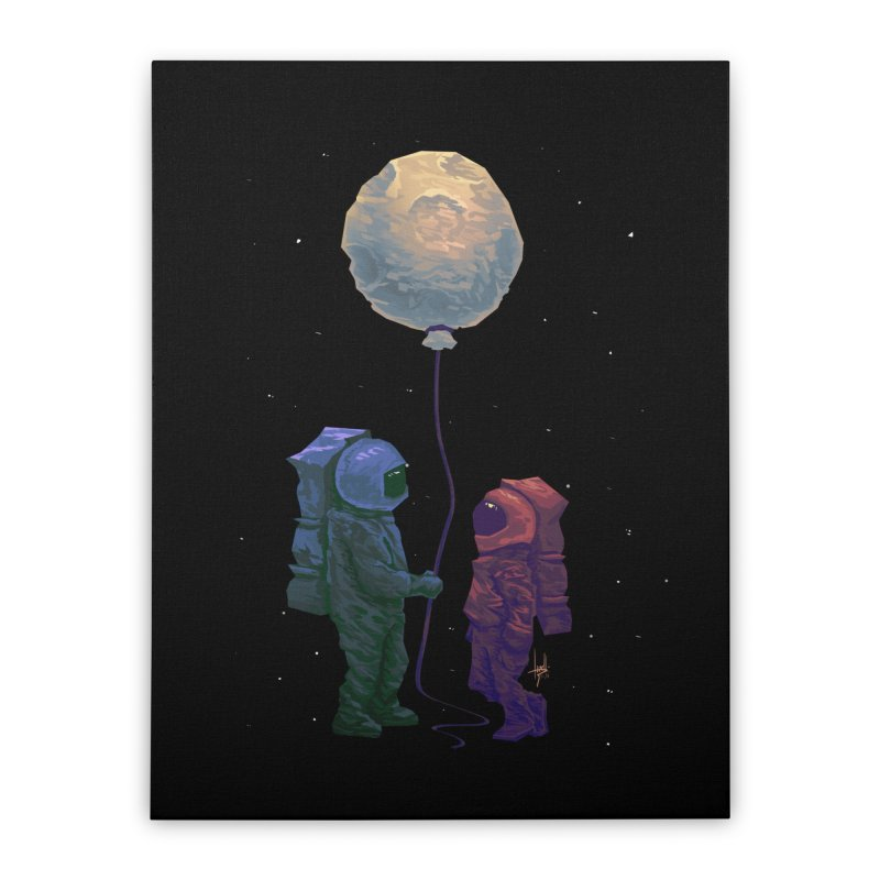 I'd give you the moon... Home Stretched Canvas by Igzell's Artist Shop