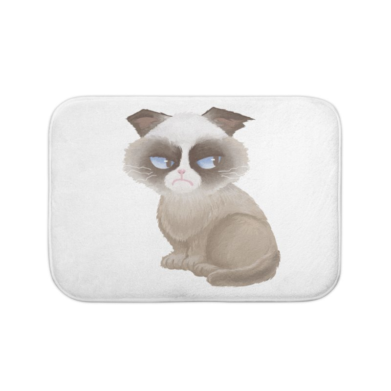 Grumpy cat Home Bath Mat by Igzell's Artist Shop
