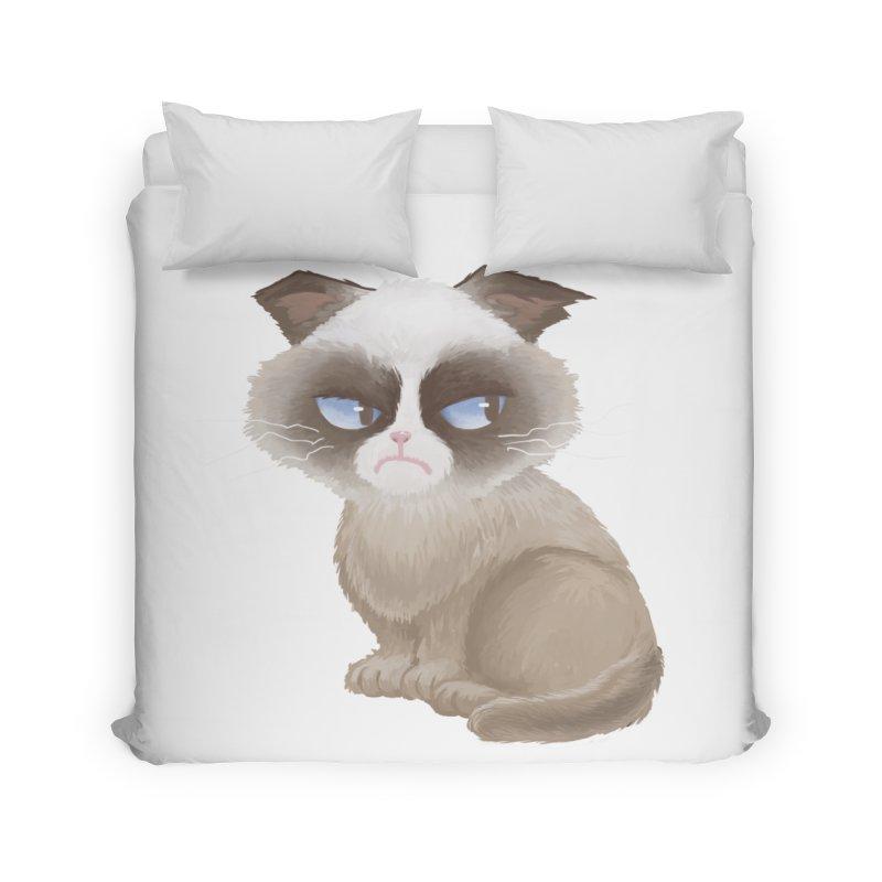 Grumpy cat Home Duvet by Igzell's Artist Shop