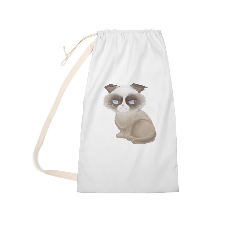 Grumpy cat Accessories Laundry Bag Bag by Igzell's Artist Shop