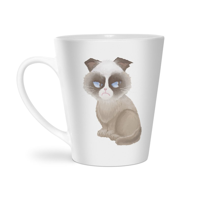 Grumpy cat Accessories Latte Mug by Igzell's Artist Shop