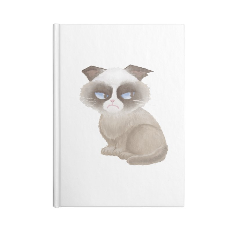 Grumpy cat Accessories Blank Journal Notebook by Igzell's Artist Shop
