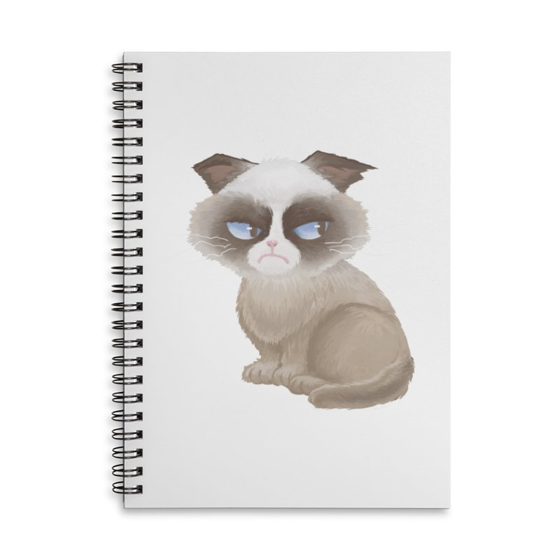 Grumpy cat Accessories Lined Spiral Notebook by Igzell's Artist Shop