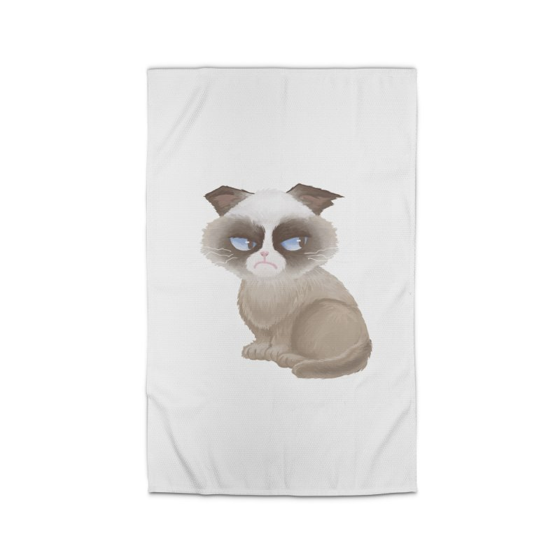 Grumpy cat Home Rug by Igzell's Artist Shop