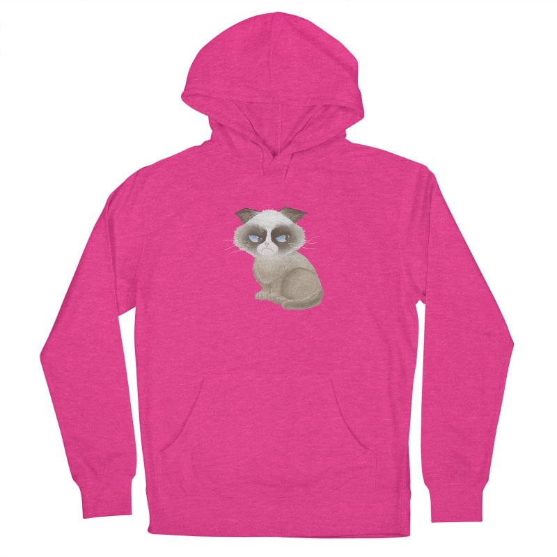 Grumpy cat Women's French Terry Pullover Hoody by Igzell's Artist Shop