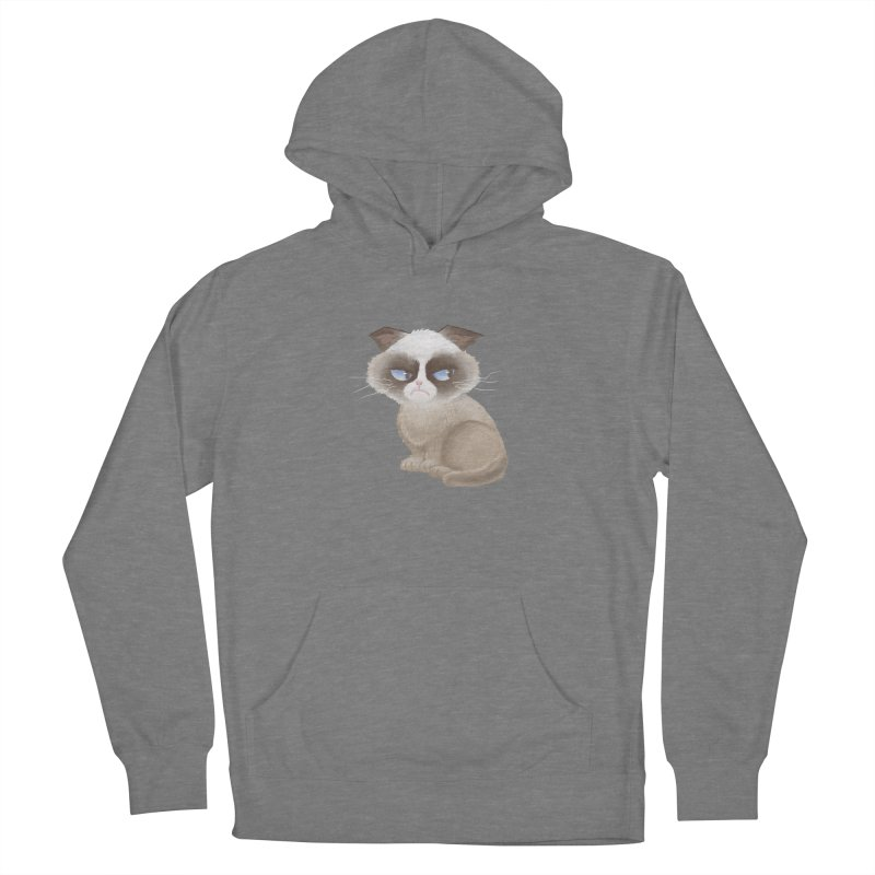 Grumpy cat Men's French Terry Pullover Hoody by Igzell's Artist Shop