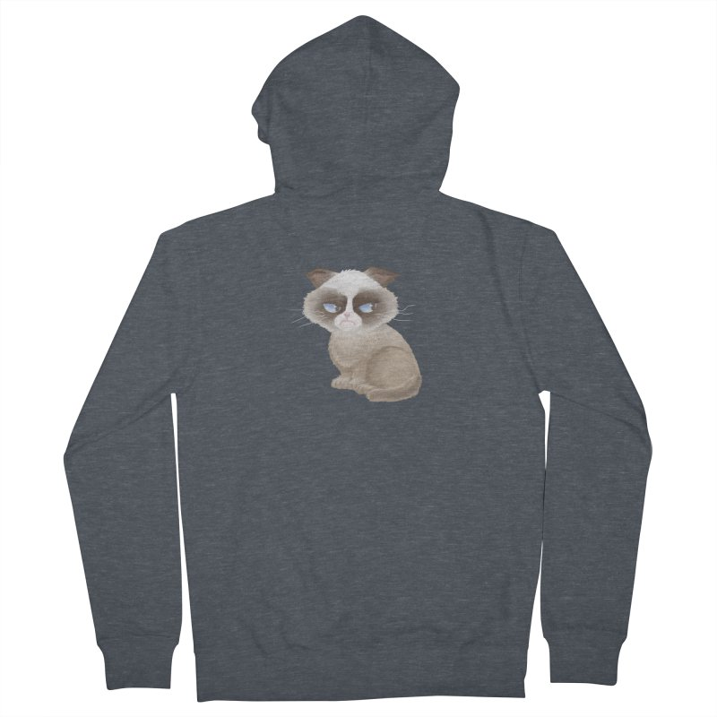Grumpy cat Women's French Terry Zip-Up Hoody by Igzell's Artist Shop
