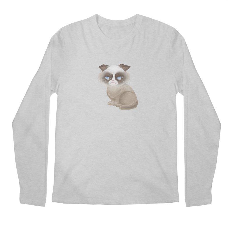 Grumpy cat Men's Regular Longsleeve T-Shirt by Igzell's Artist Shop
