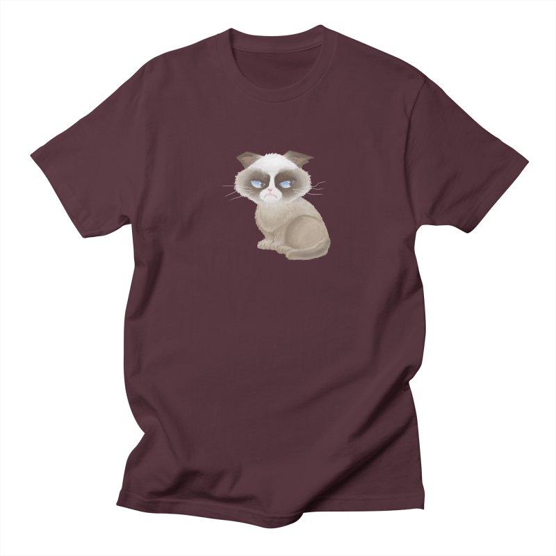 Grumpy cat Women's Regular Unisex T-Shirt by Igzell's Artist Shop