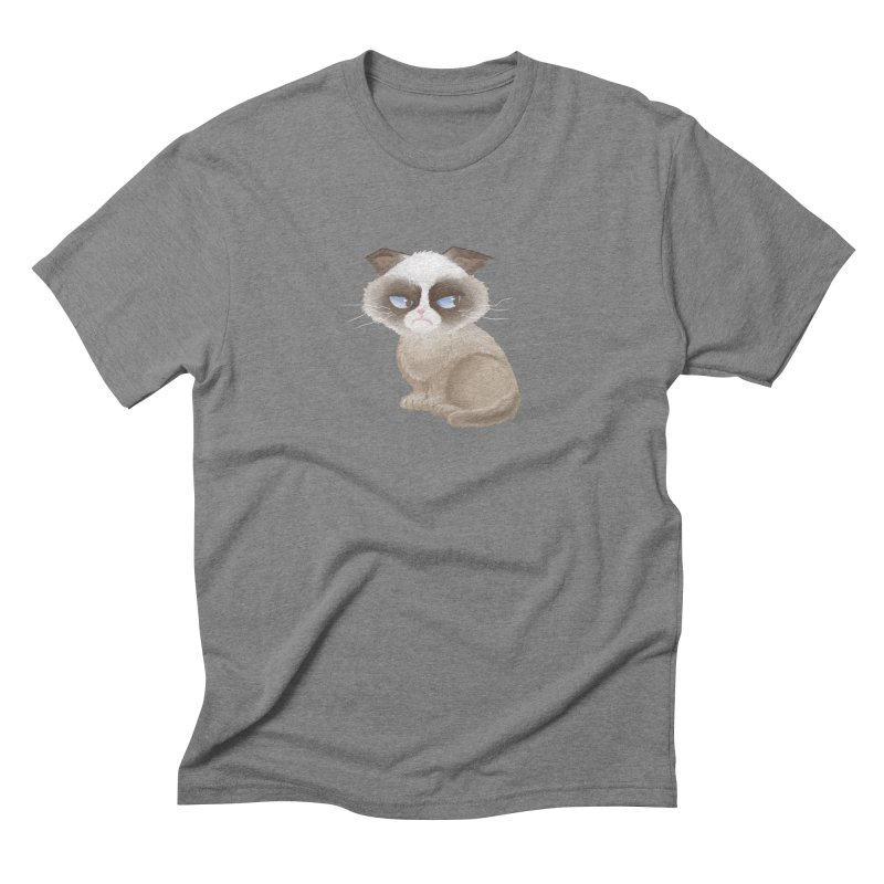 Grumpy cat Men's Triblend T-Shirt by Igzell's Artist Shop